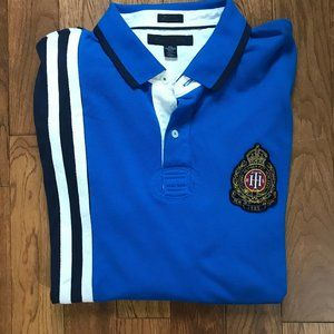 Tommy Hilfiger - Blue Long Sleeve Rugby  Shirt